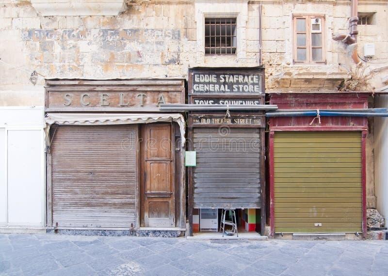 Avants de magasin de vintage photographie stock libre de droits