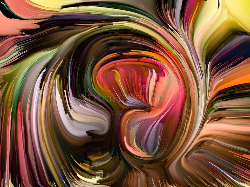 Avanzamento dei colori fusi illustrazione di stock