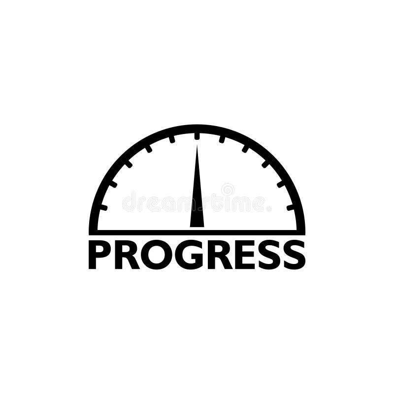Avanzamento di andata di misura di slancio di progresso illustrazione di stock