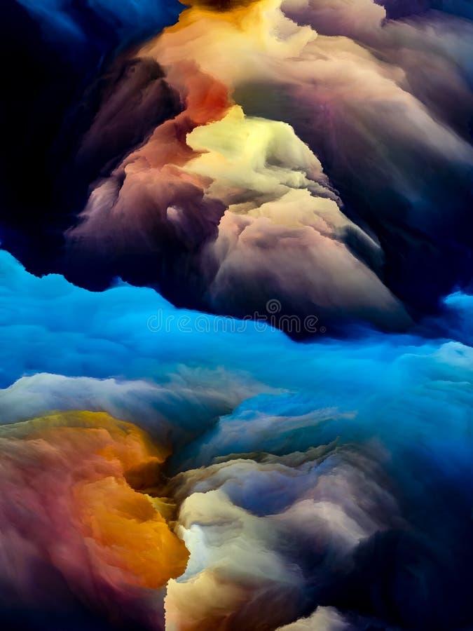Avanzamento di Cloudscape illustrazione di stock