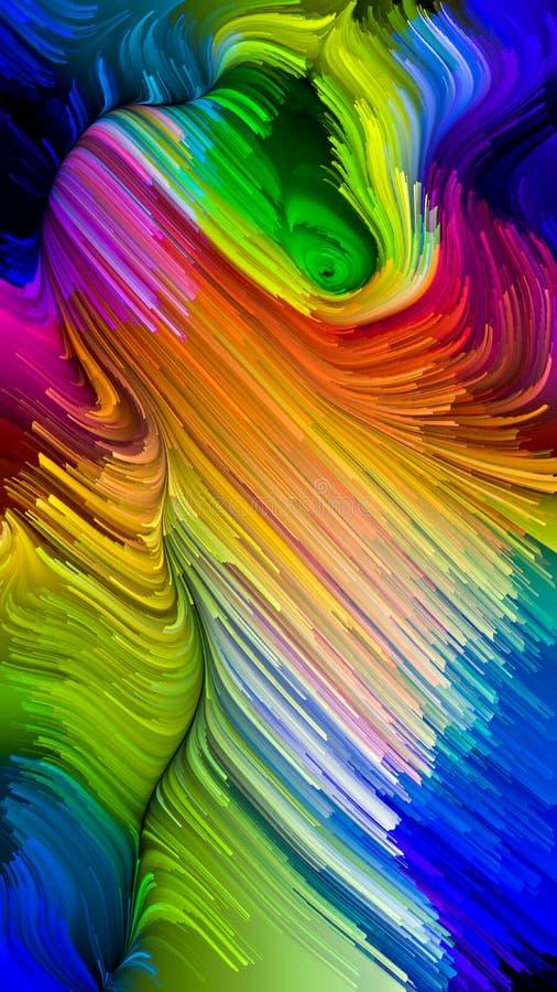 Avanzamento di colore liquido illustrazione di stock