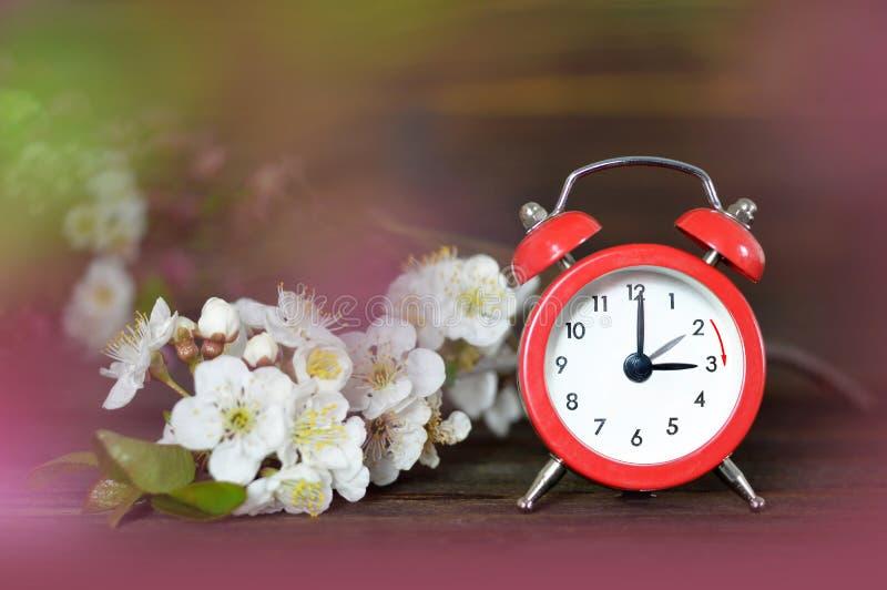Avanzamento primavera Tempo di salvataggio Daylight immagine stock