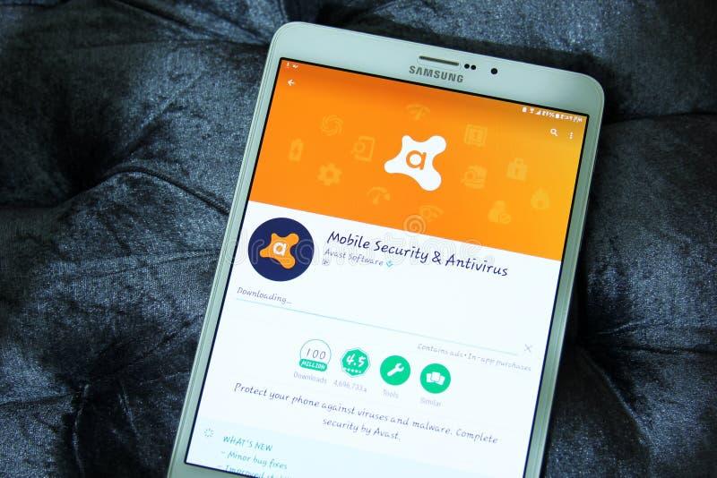 Avast mobilna ochrona app i antivirus fotografia royalty free