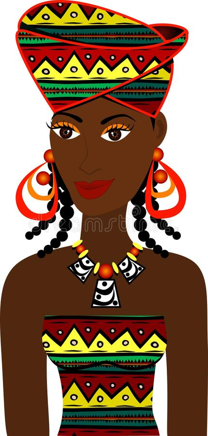 Avatar africano da menina ilustração stock
