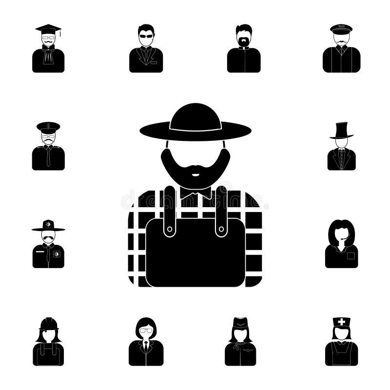avatar av bondesymbolen Detaljerad uppsättning av avatars av yrkesymboler Högvärdig kvalitets- symbol för grafisk design En av sa vektor illustrationer
