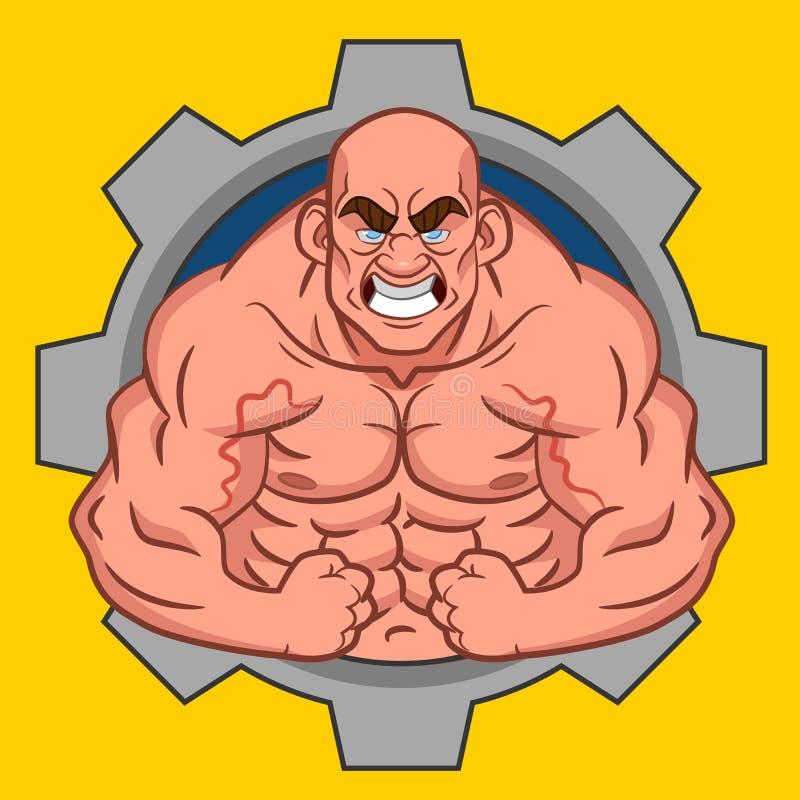 Avatar bodybuilder royalty ilustracja