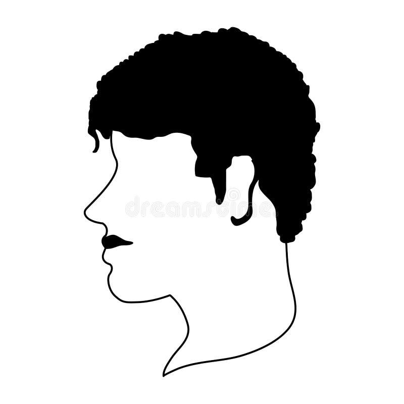 Avatar capo anonimo dell'uomo in bianco e nero royalty illustrazione gratis