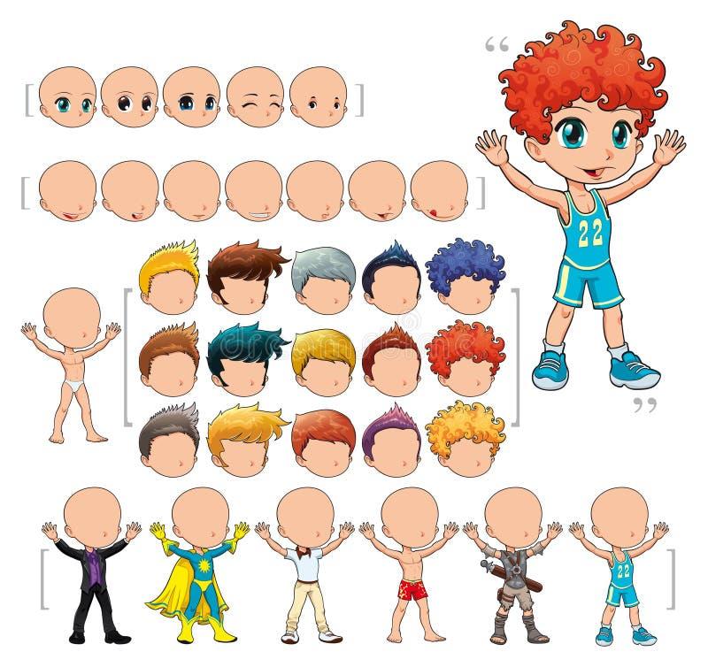 avatar chłopiec ilustraci odosobneni przedmioty royalty ilustracja