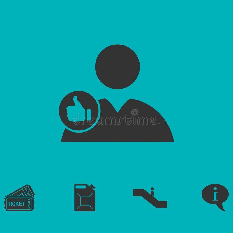 Avatar come il piano dell'icona illustrazione di stock