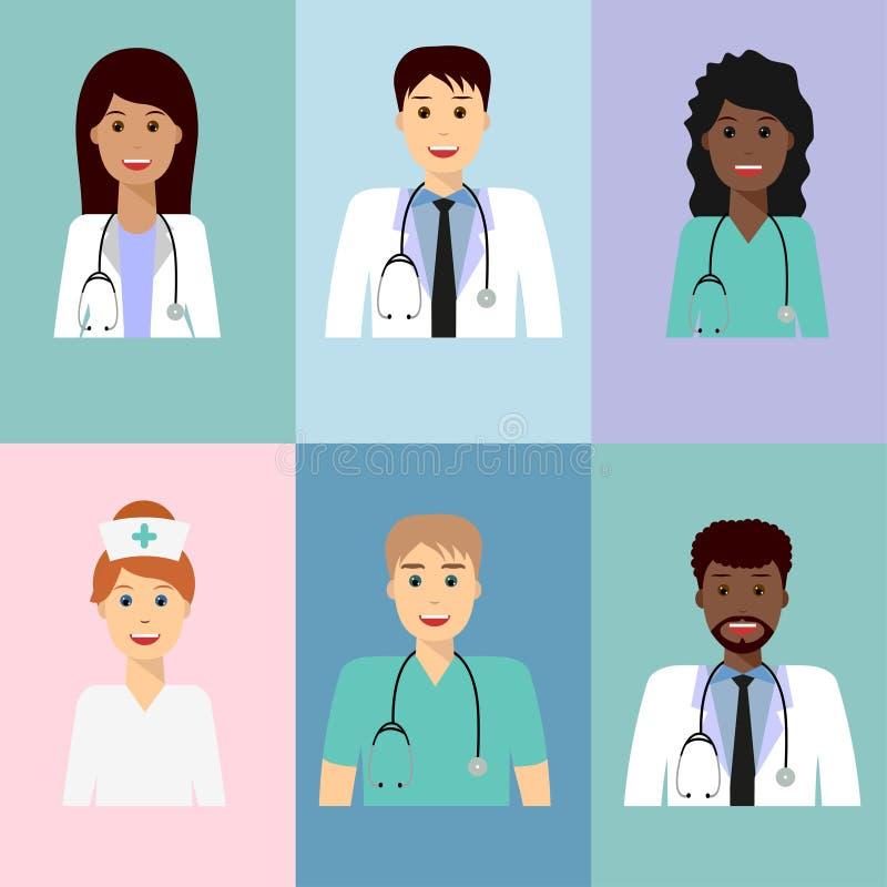 Avatar 3 d'équipe médicale illustration libre de droits