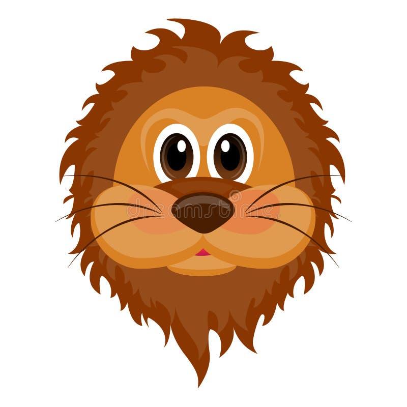 Avatar d'un lion illustration de vecteur