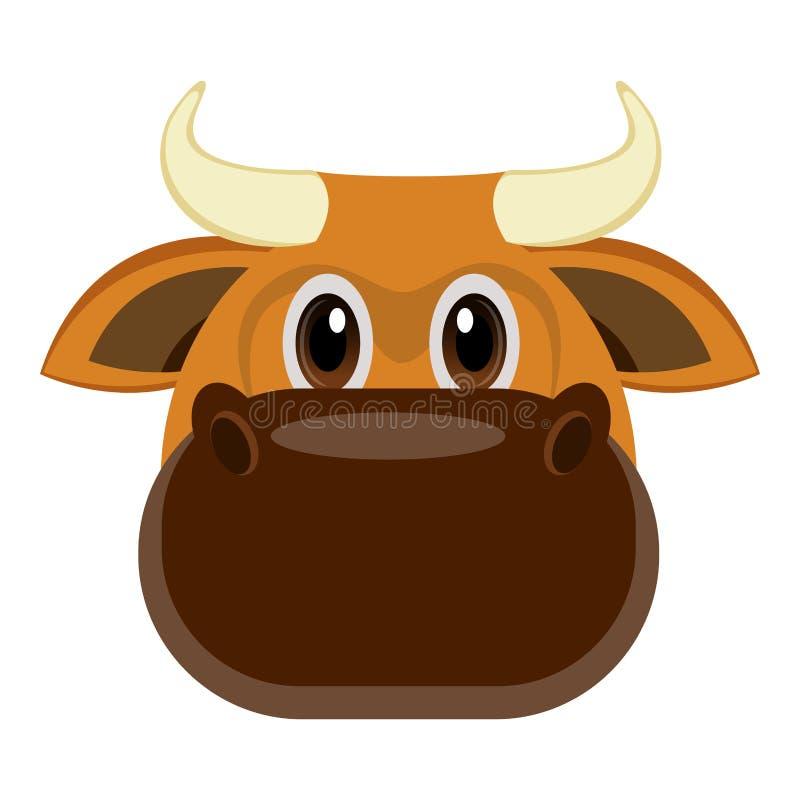 Avatar d'un taureau illustration de vecteur
