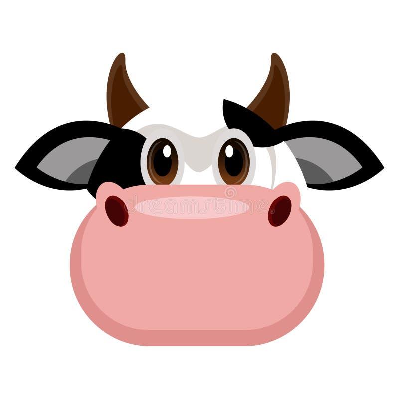 Avatar d'une vache illustration de vecteur