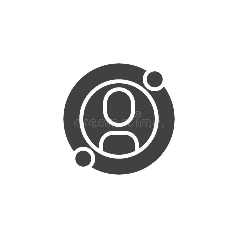 Avatar d'utilisateur dans l'icône de vecteur de cercle illustration libre de droits