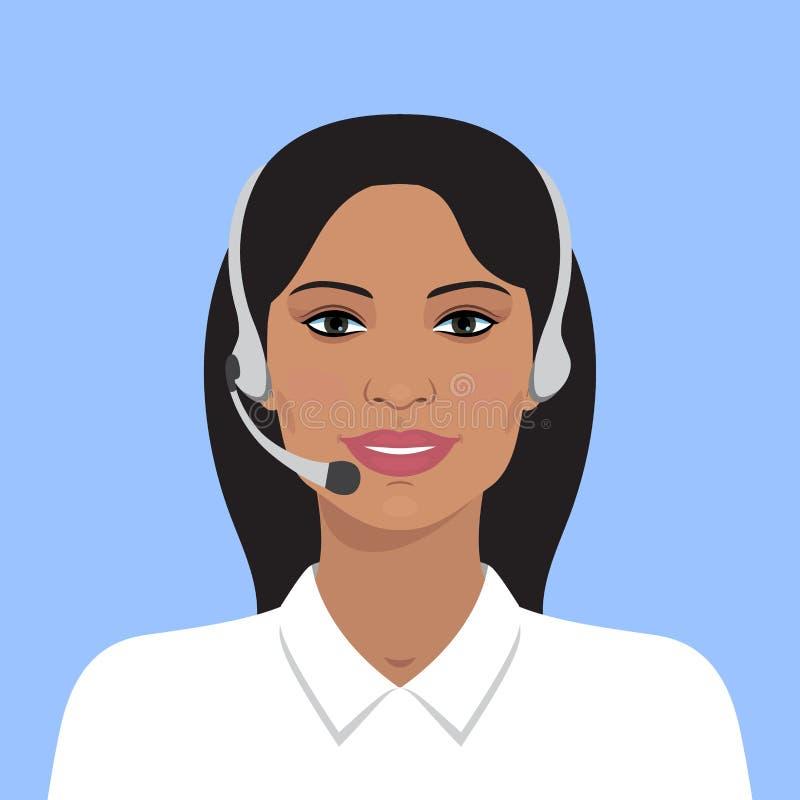 Avatar da mulher indiana ilustração do vetor