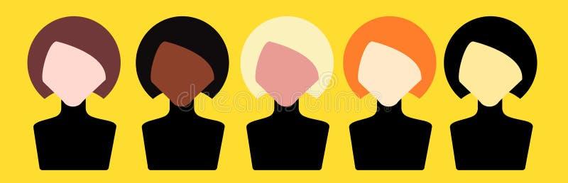 Avatar das mulheres ilustração royalty free
