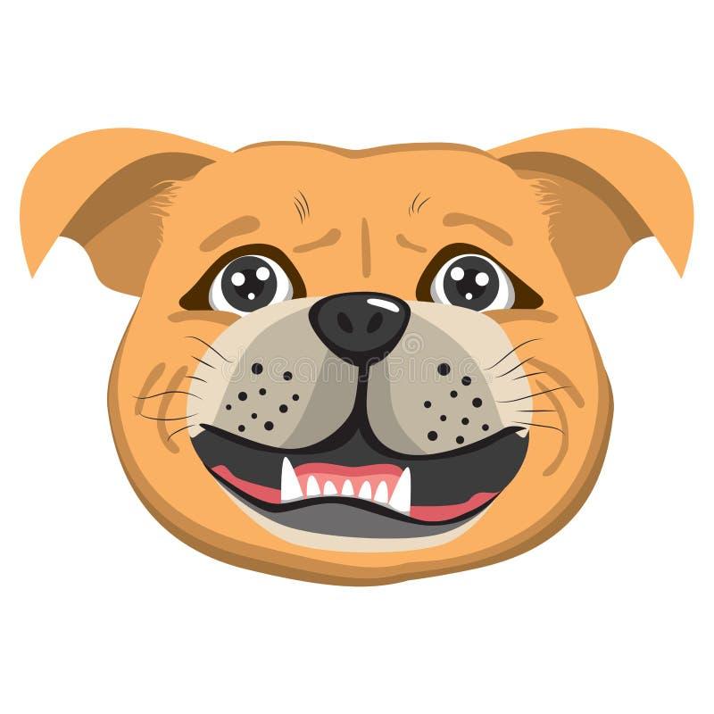 Avatar de chien de Bordeaux illustration stock