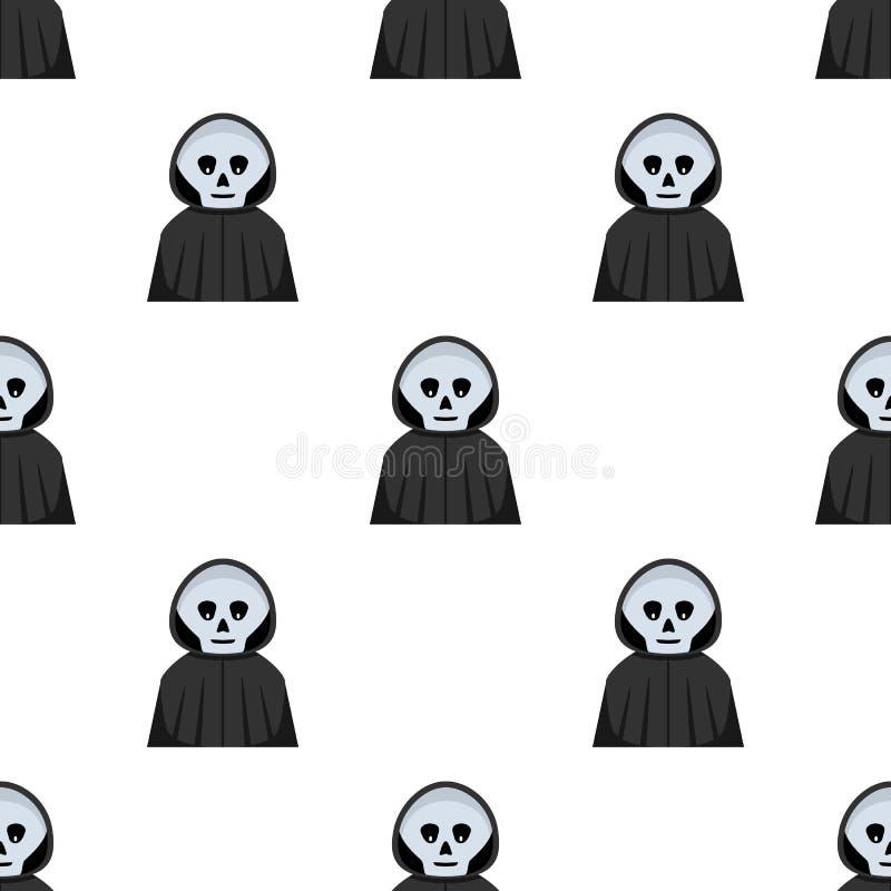 Avatar de faucheuse de Halloween sans couture illustration stock