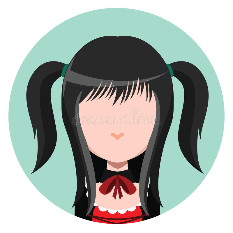 Avatar de fille de Goth illustration de vecteur