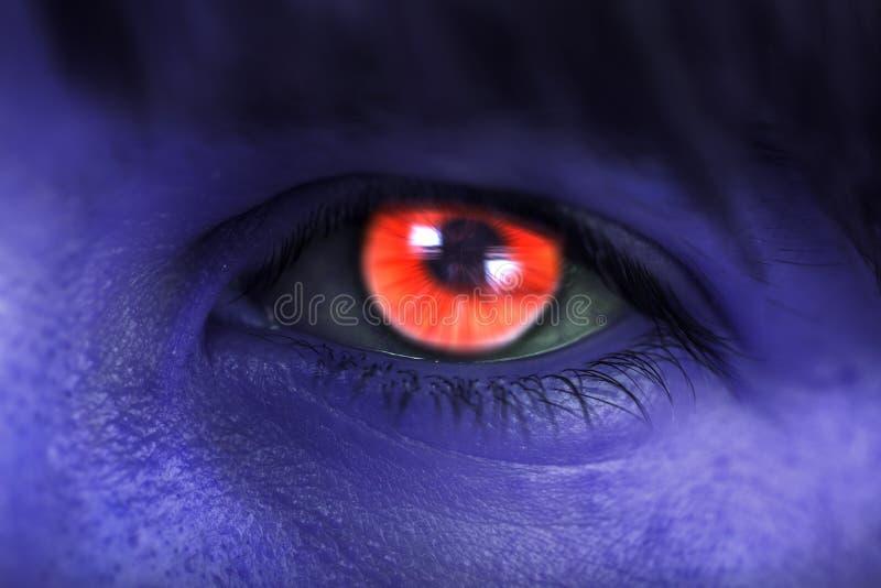 Avatar de la mujer, ojo rojo imágenes de archivo libres de regalías