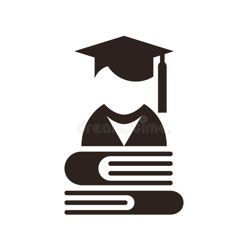 Avatar de la universidad Icono de la educación stock de ilustración