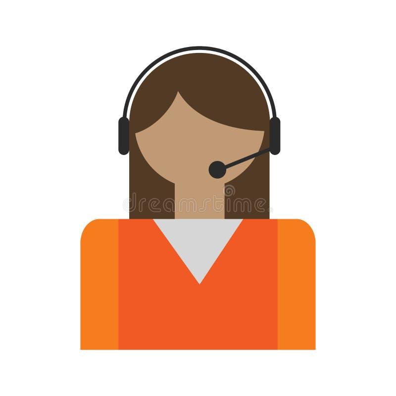 Avatar de los operadores de centro de atención telefónica ilustración del vector