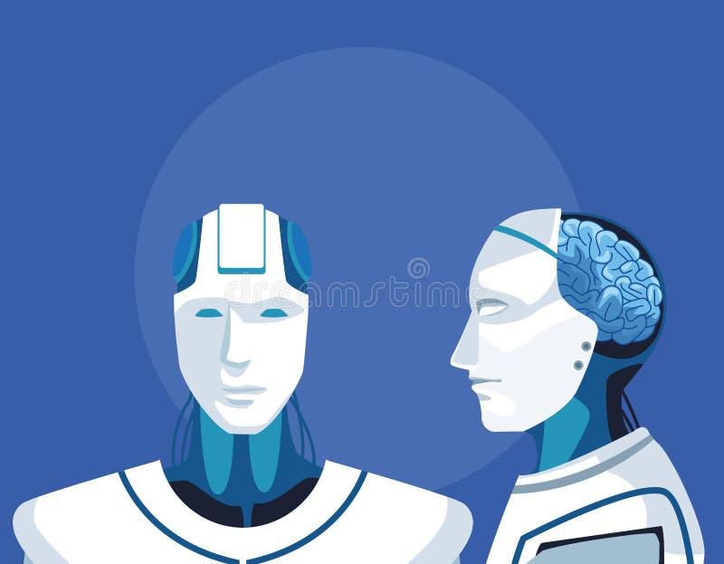 Avatar de robot de humanoïde illustration stock