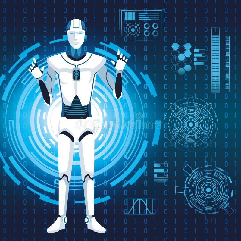 Avatar de robot de humanoïde illustration libre de droits