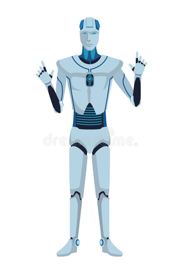 Avatar de robot de humano?de illustration stock