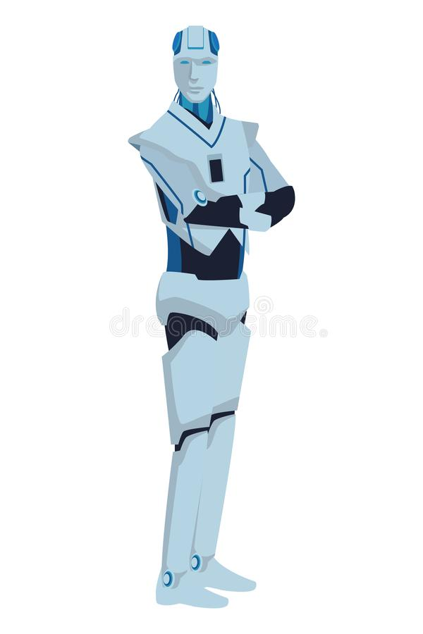 Avatar de robot de humano?de illustration libre de droits