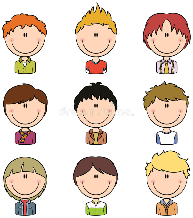 Avatar dei ragazzi illustrazione vettoriale