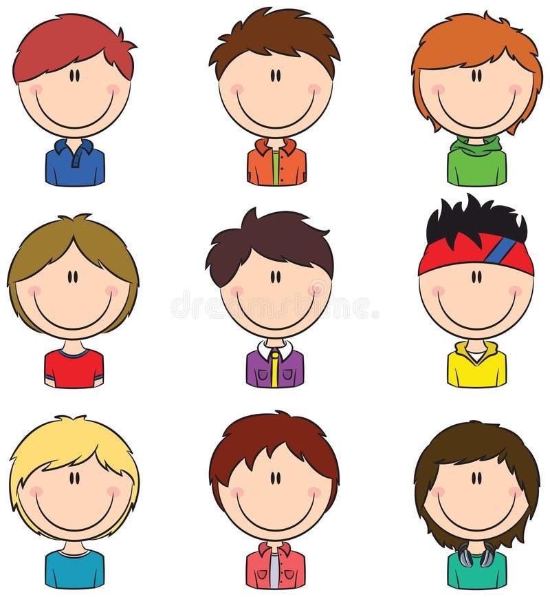 Avatar dei ragazzi royalty illustrazione gratis