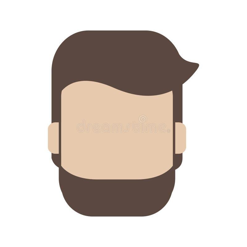 Avatar del hombre anónimo ilustración del vector