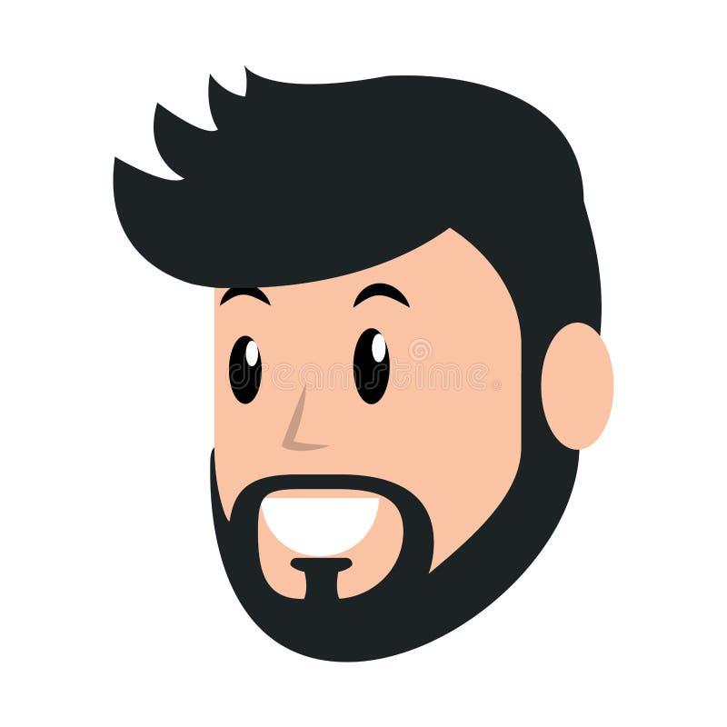 Avatar del hombre joven stock de ilustración