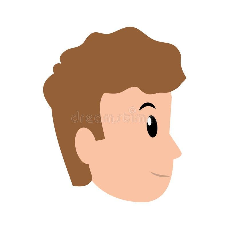 Avatar del hombre joven ilustración del vector