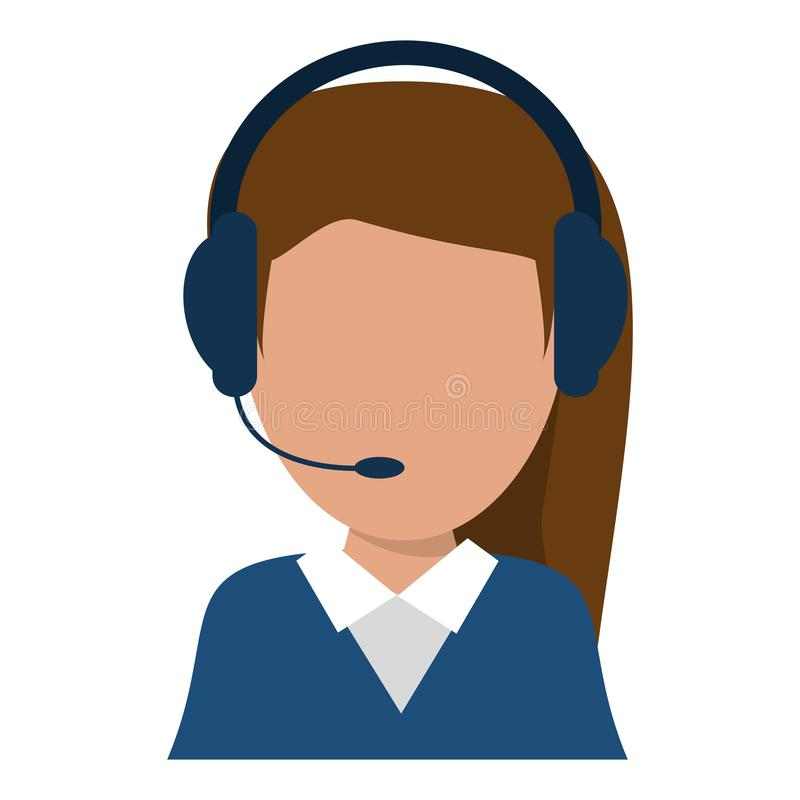 Avatar del operador del agente del centro de atención telefónica stock de ilustración