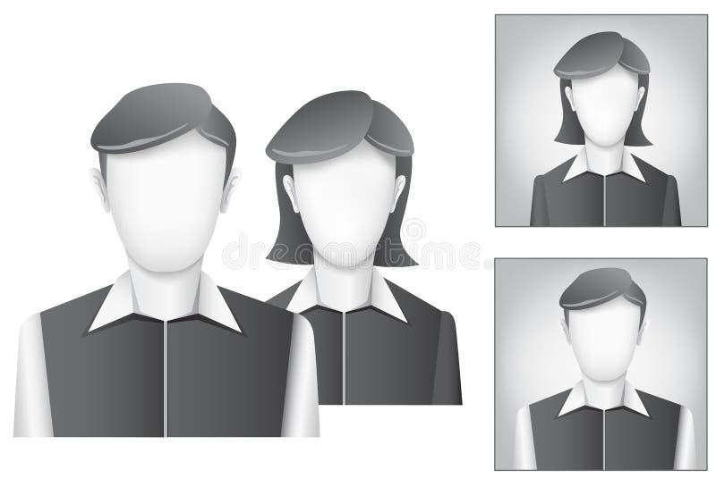 Avatar del valor por defecto stock de ilustración