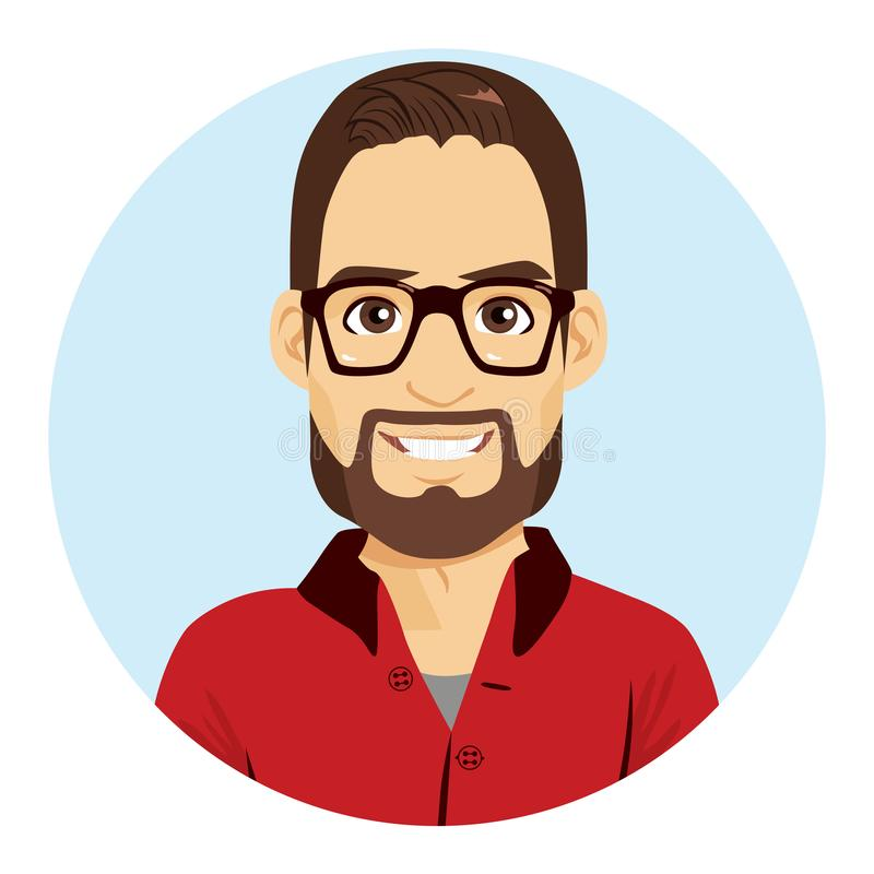 Avatar dell'uomo del geek illustrazione di stock