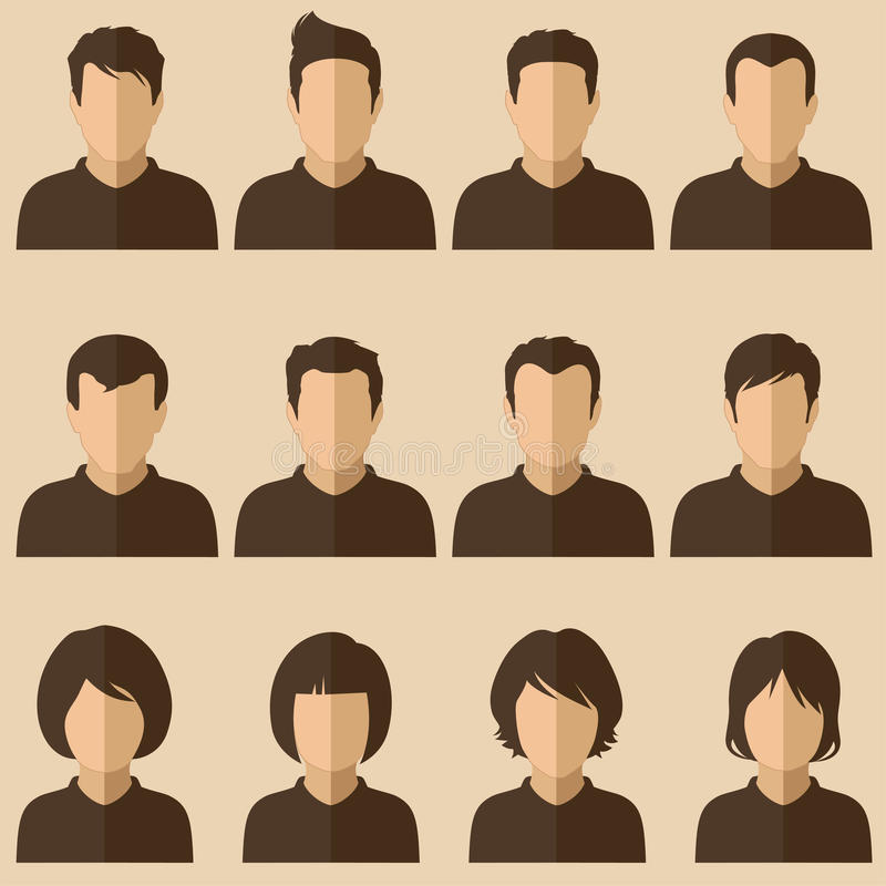 Avatar della gente royalty illustrazione gratis