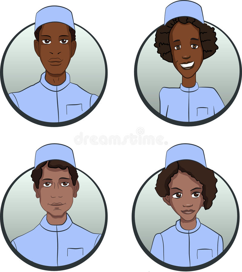 Avatar delle persone delle nazionalità differenti illustrazione di stock
