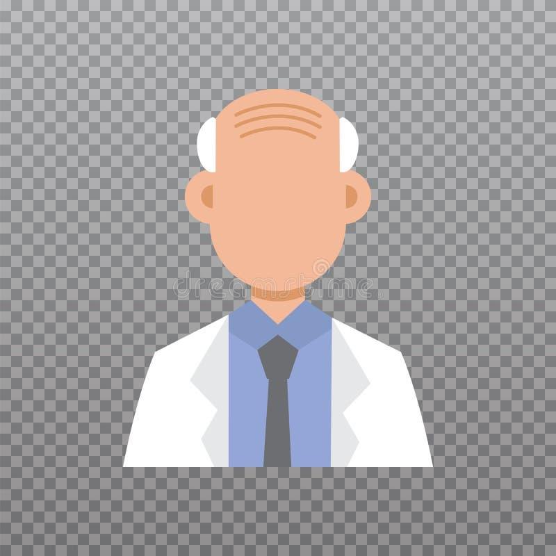 Avatar di medico, icona del personale medico illustrazione di stock