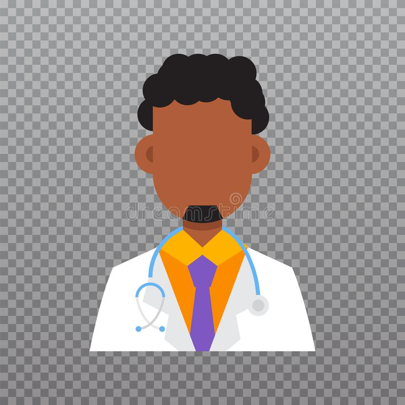Avatar di medico, icona del personale medico royalty illustrazione gratis