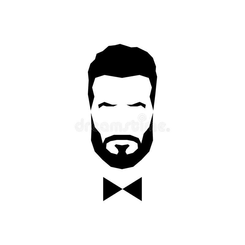 Avatar do cavalheiro com laço ilustração royalty free