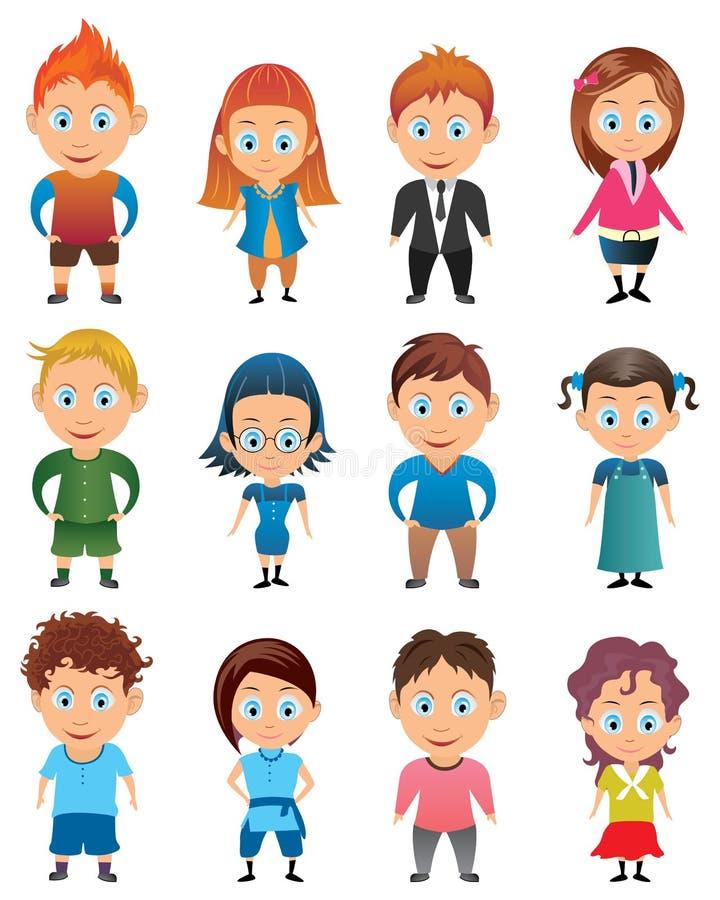 Avatar do menino e da menina ilustração stock