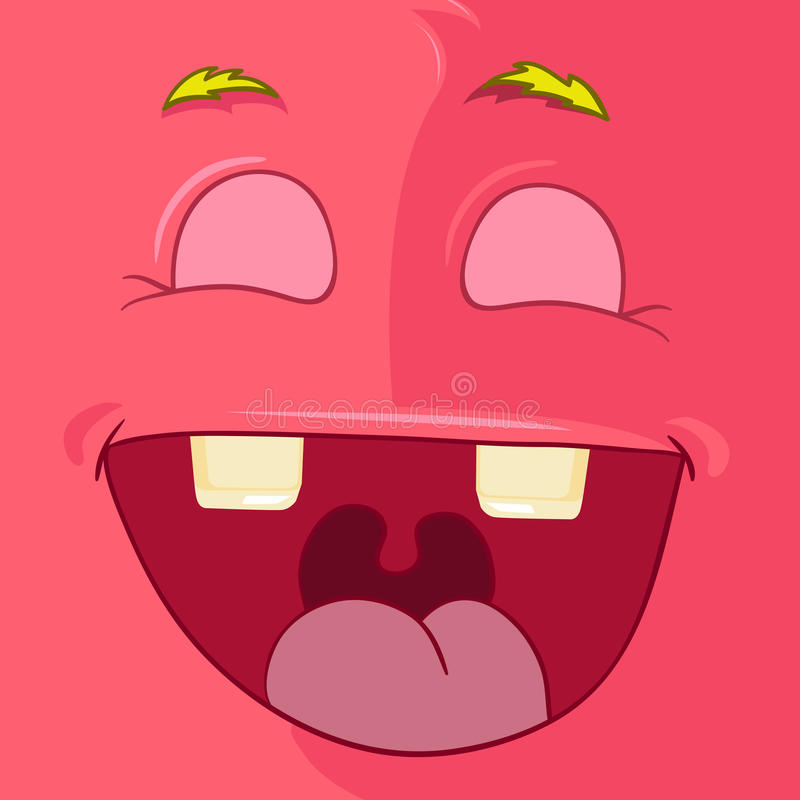 Avatar do monstro ilustração royalty free
