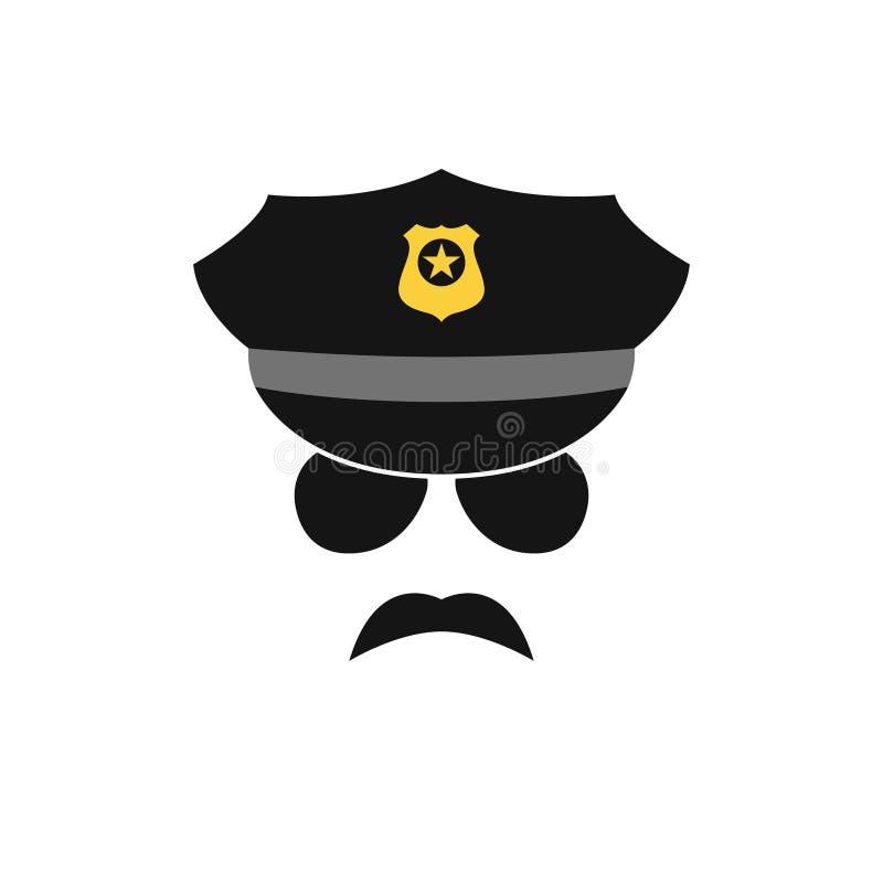 Avatar do polícia Ícone do agente da polícia ilustração stock