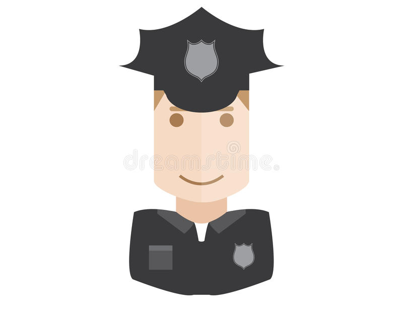 Avatar do vetor do polícia ilustração do vetor