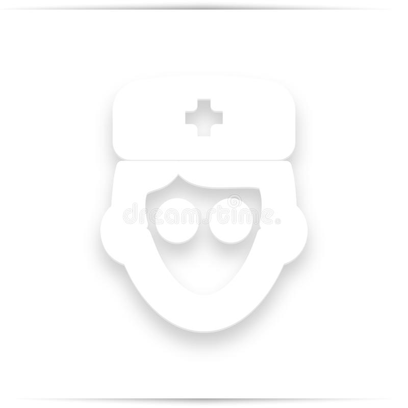 Avatar, doctor with flat icon royalty free stock photo