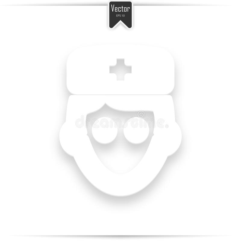 Avatar, doctor with flat icon stock photo
