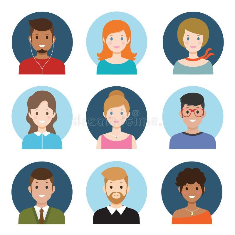 Avatar dos jovens ilustração do vetor